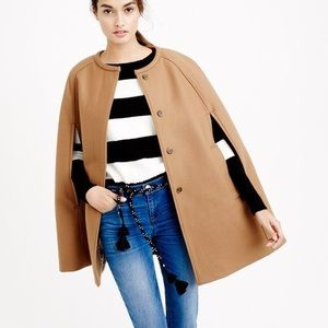 J Crew wool Camel Cape Jacket